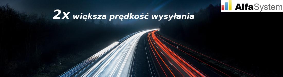 Usługa: Podwojenie prędkości wysyłania